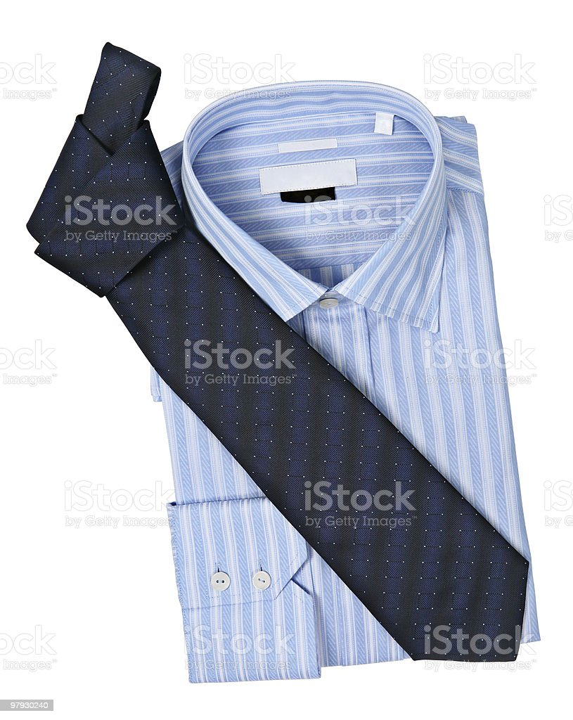 Necktie and shirt royalty-free stock photo