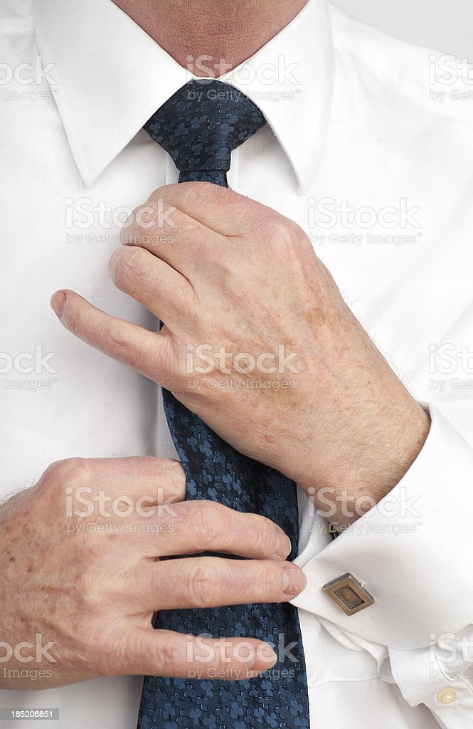necktie binding on business suit royalty-free stock photo