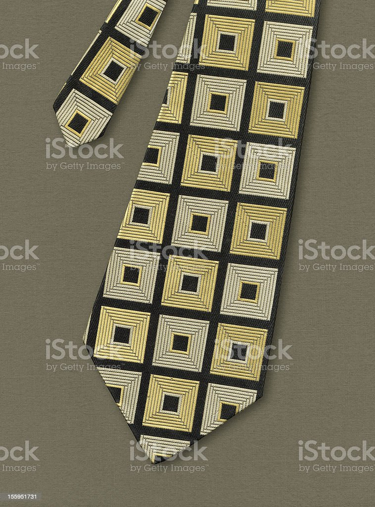 Necktie, fashion of 1970th years. stock photo