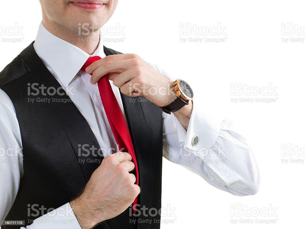 Necktie Knot royalty-free stock photo