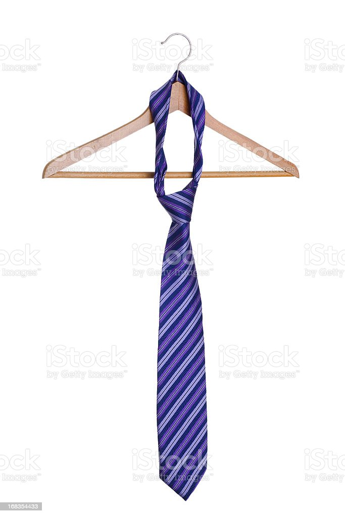 necktie on hanger. royalty-free stock photo