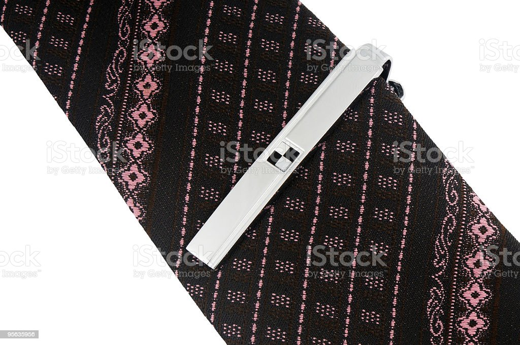 Necktie with tie-pin stock photo