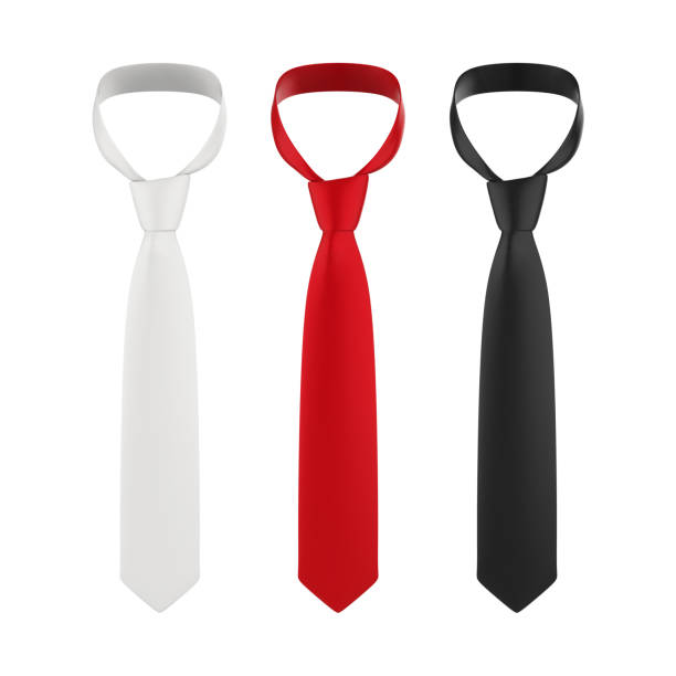 neckties isolated - gravata imagens e fotografias de stock
