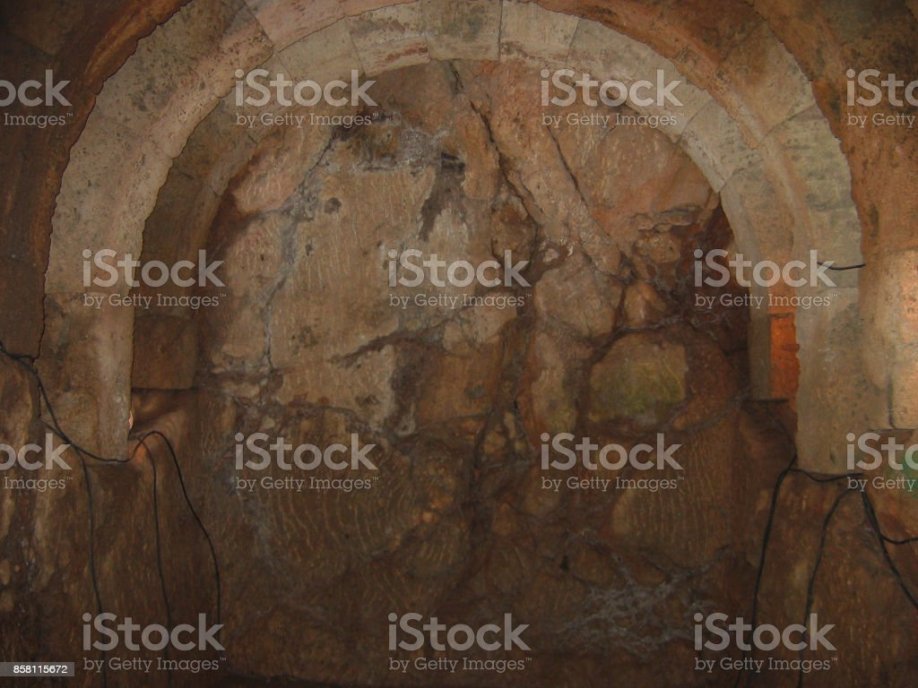 Necromanteion of Acheron Preveza Greece Underground tunnel stock photo