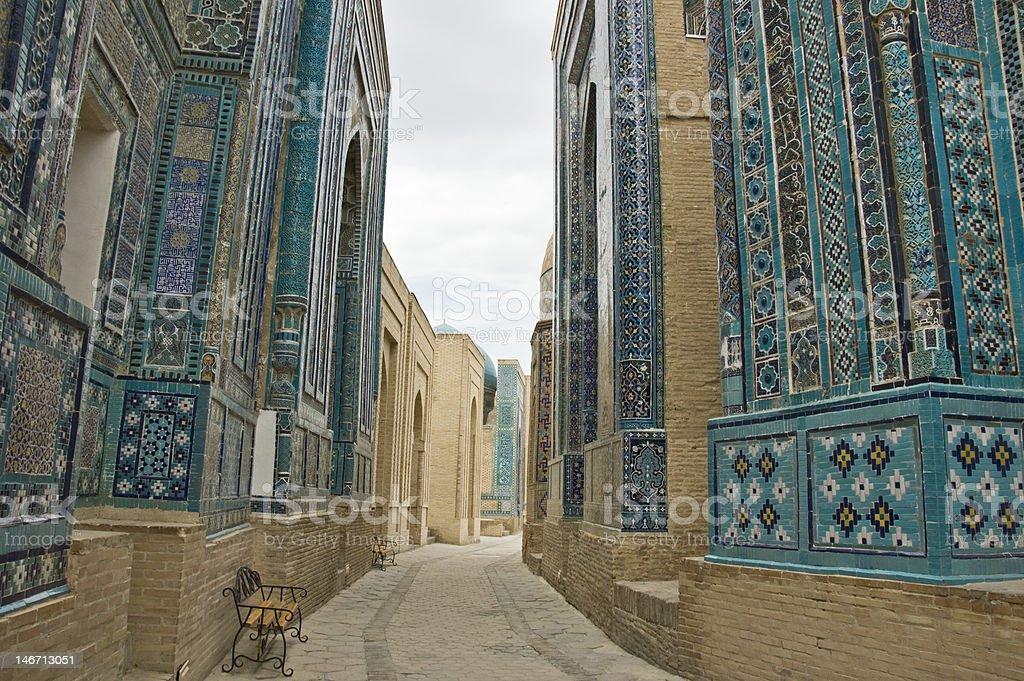 Necropolis in Samarkand stock photo