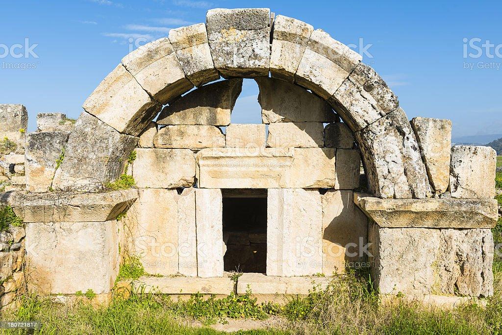 Necropolis of Hierapolis royalty-free stock photo