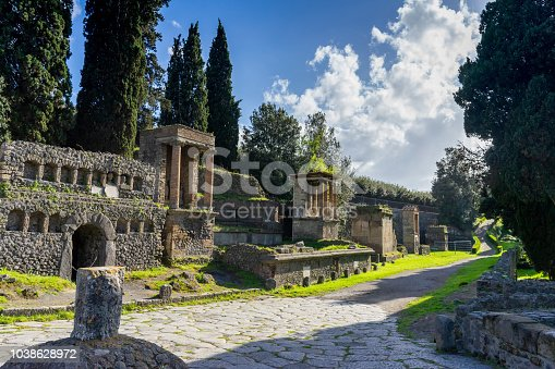 Walking through the Ancient Roman Ruins of Pompeii Italy
