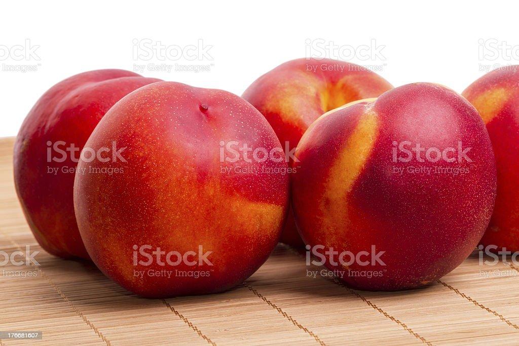 Nectarine close-up royalty-free stock photo