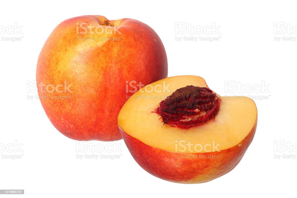 Nectarine fruit stock photo