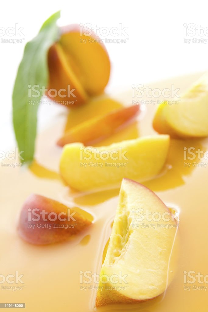 Nectarine juice royalty-free stock photo