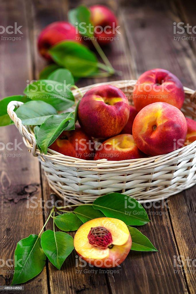 nectarine stock photo