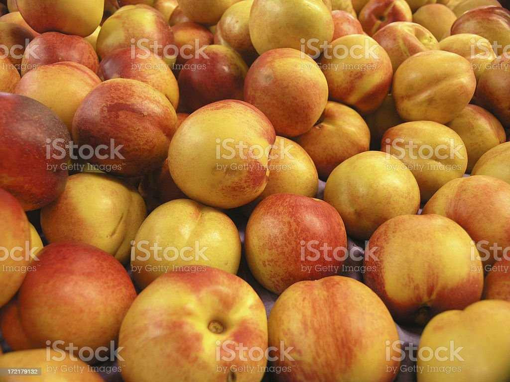 Nectarines from the Market royalty-free stock photo