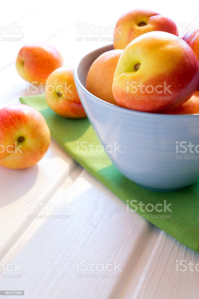Nectarines in a bowl royalty-free stock photo