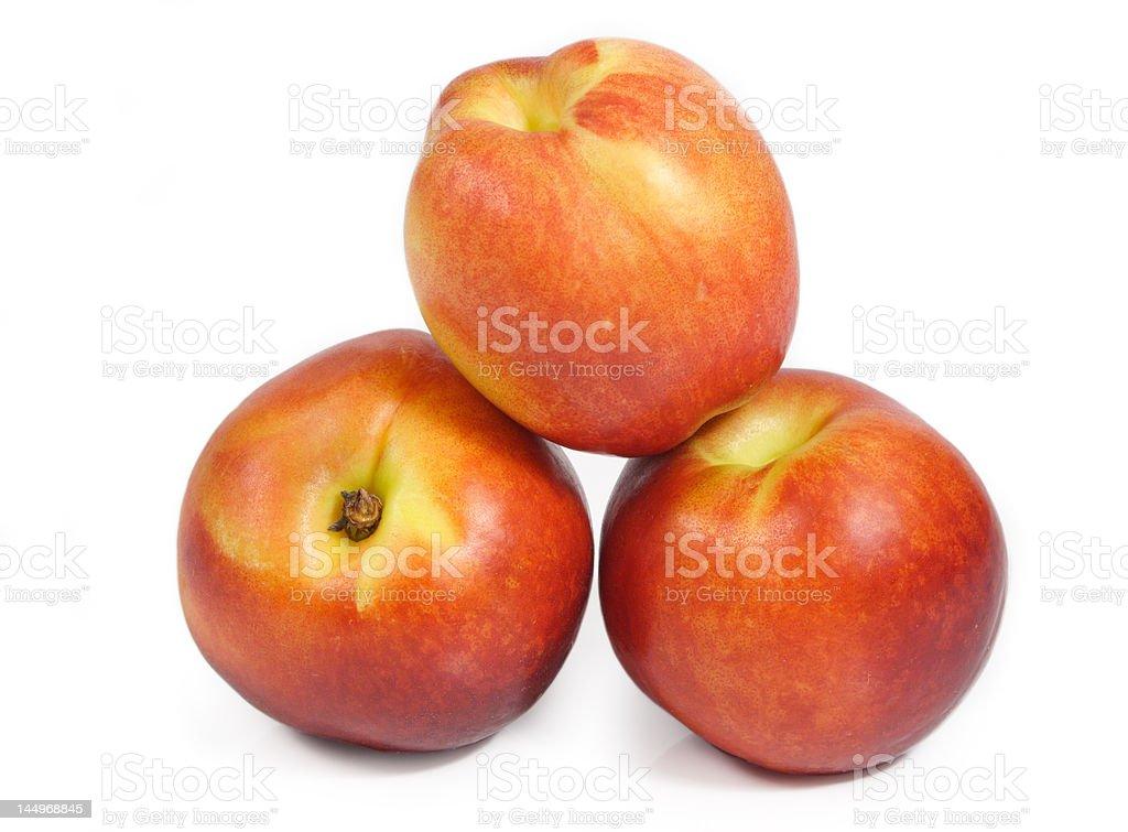 nectarines isolated on white royalty-free stock photo