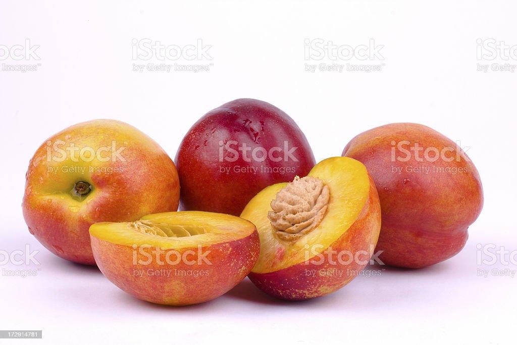 Nectarines on white background royalty-free stock photo