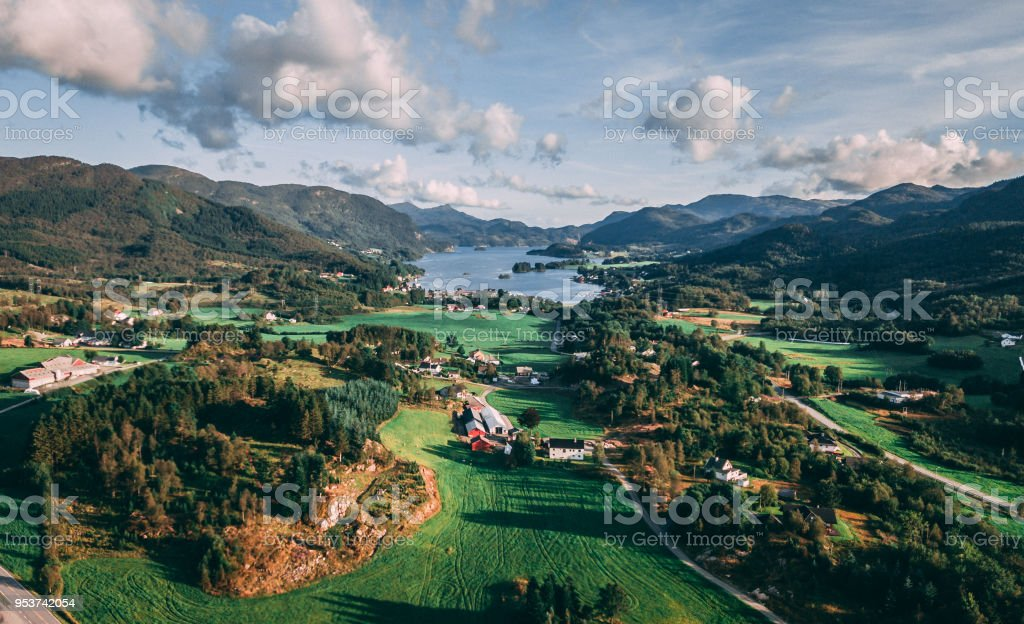 Nedre Vats, Norway stock photo