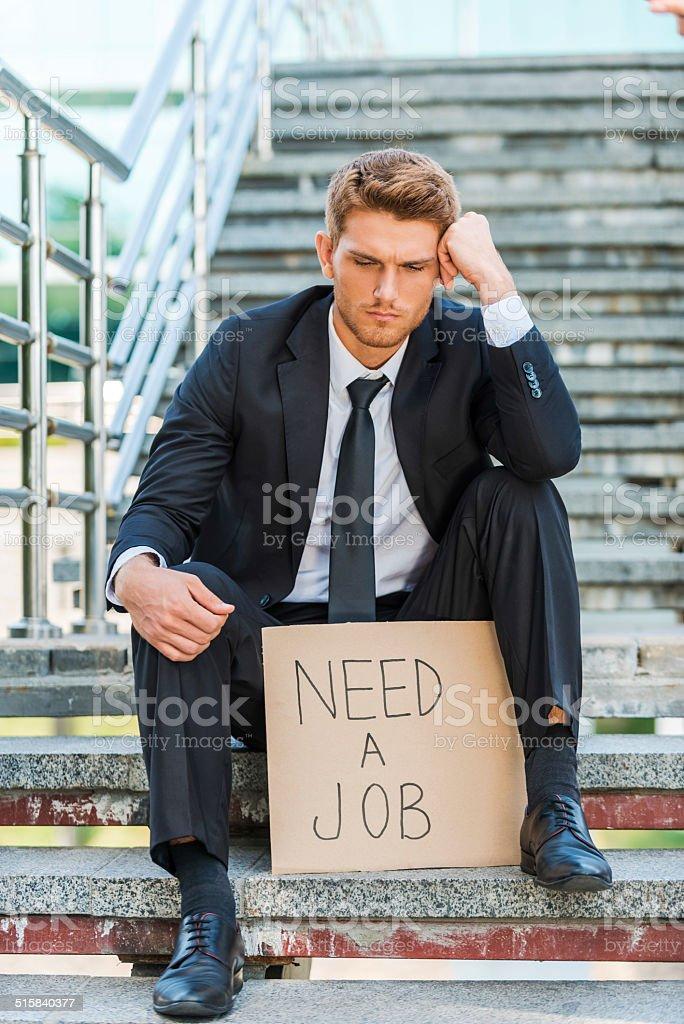 Need a job. stock photo
