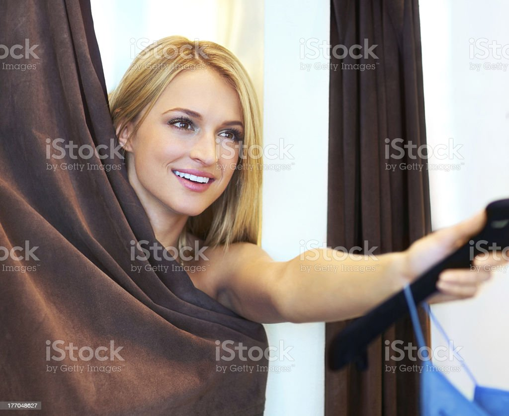 I need a smaller one please! royalty-free stock photo