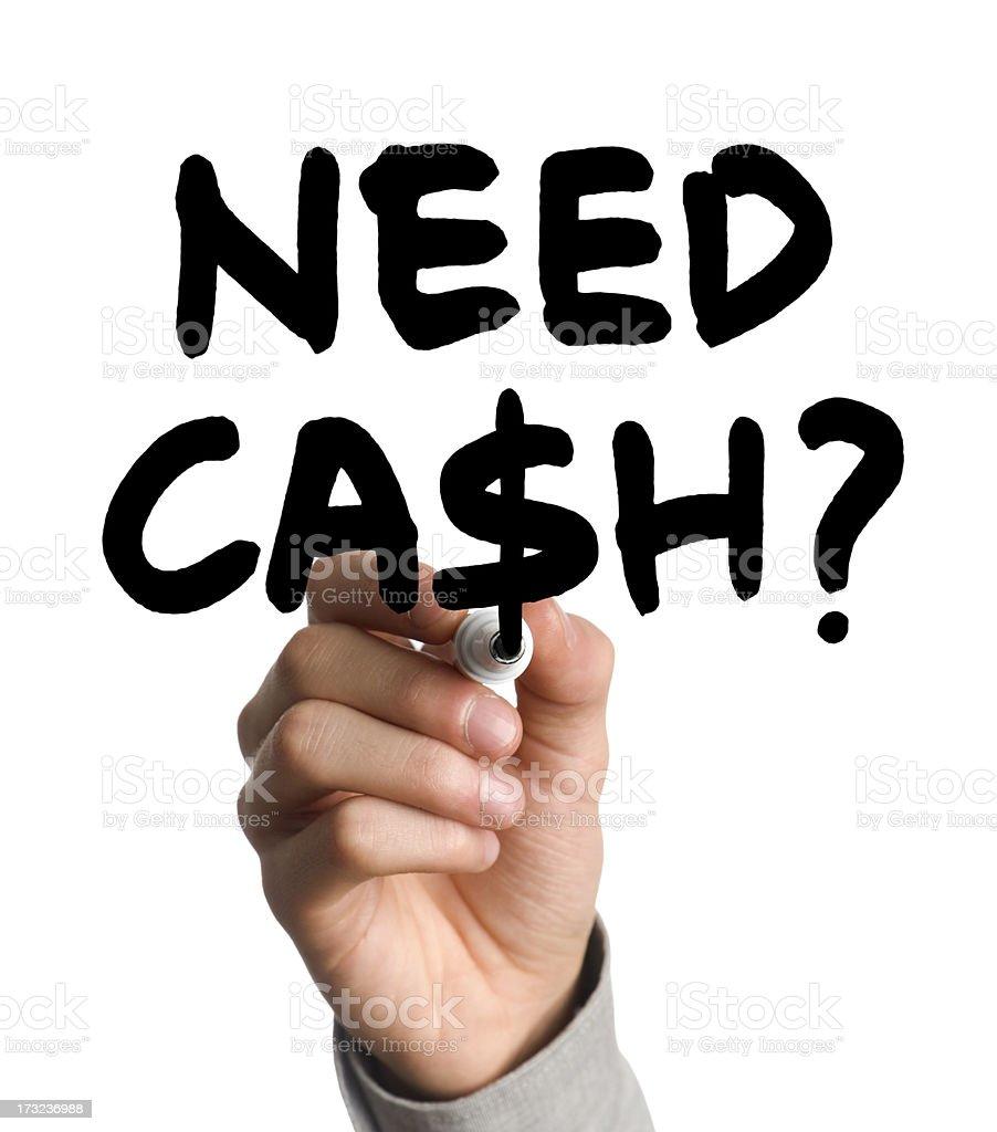 need cash? royalty-free stock photo