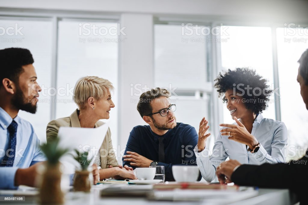 I need everyone to give me their best ideas stock photo