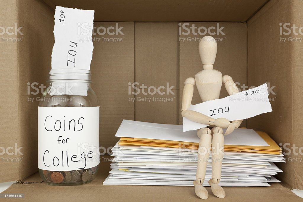 Need Financial Assistance royalty-free stock photo