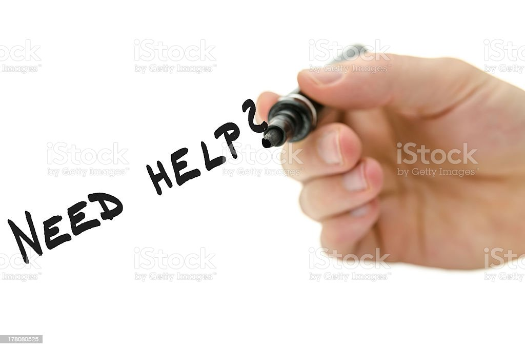 Need help? royalty-free stock photo