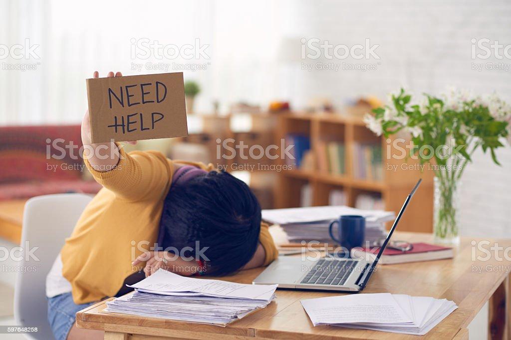 I need help stock photo