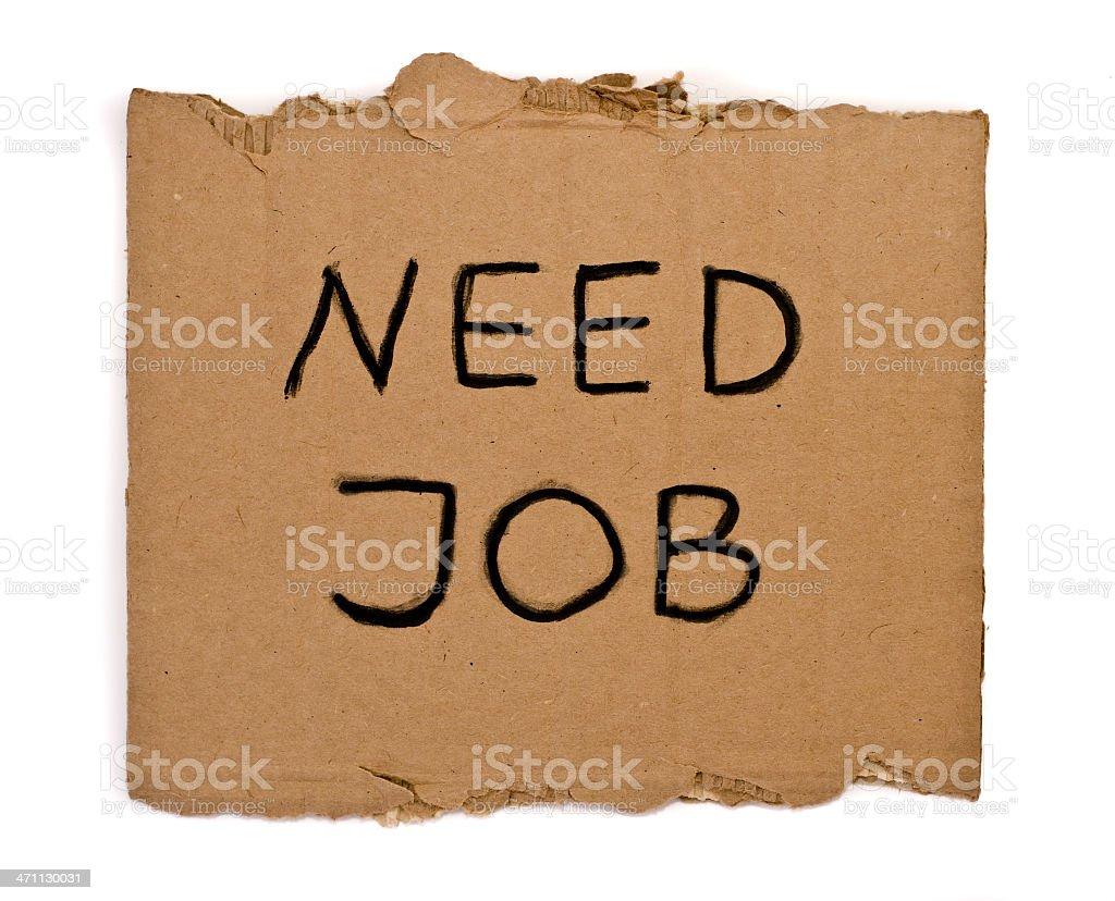 Need job stock photo