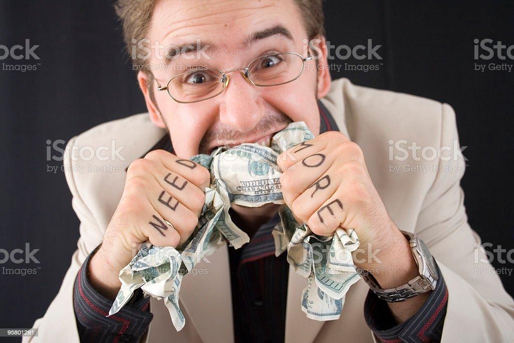 need more dollars royalty-free stock photo