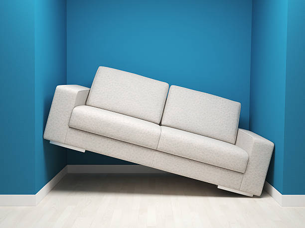 need more space 3d image of leather sofa in narrow space narrow stock pictures, royalty-free photos & images