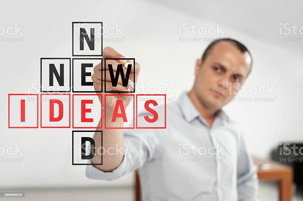 need new ideas stock photo