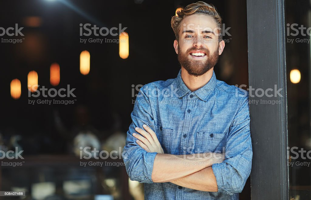 Need some great coffee? Come on in stock photo