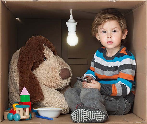 i need space - toddler in a box - trap house stock pictures, royalty-free photos & images