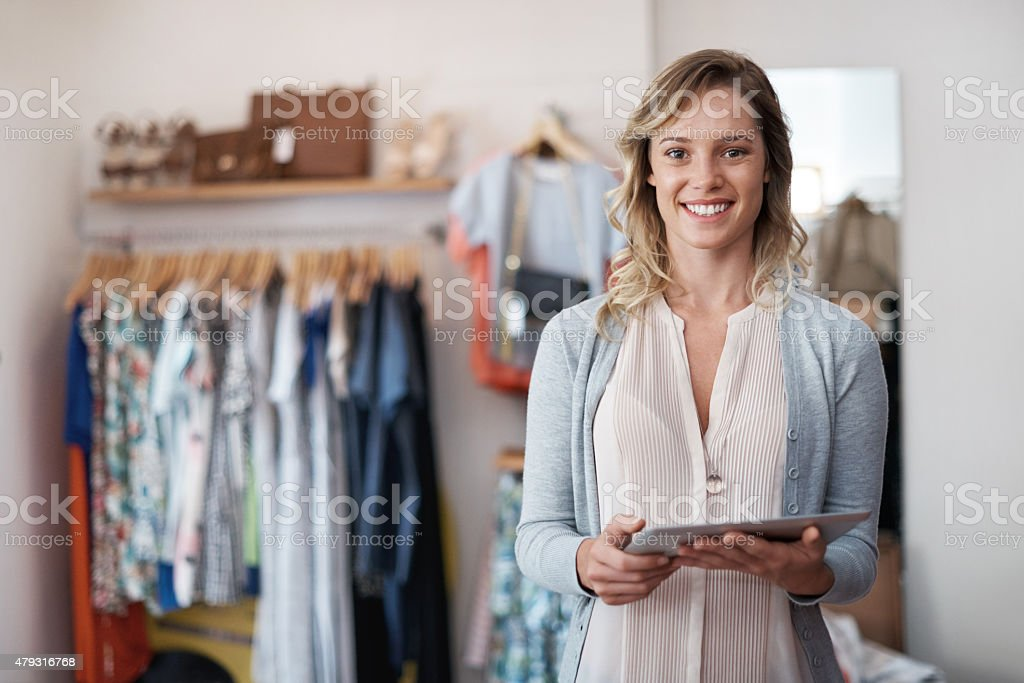 Need to do shopping? do it with a click stock photo