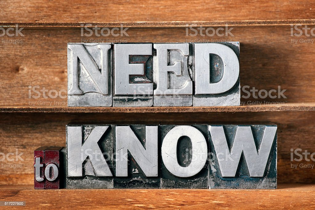 need to know tray stock photo