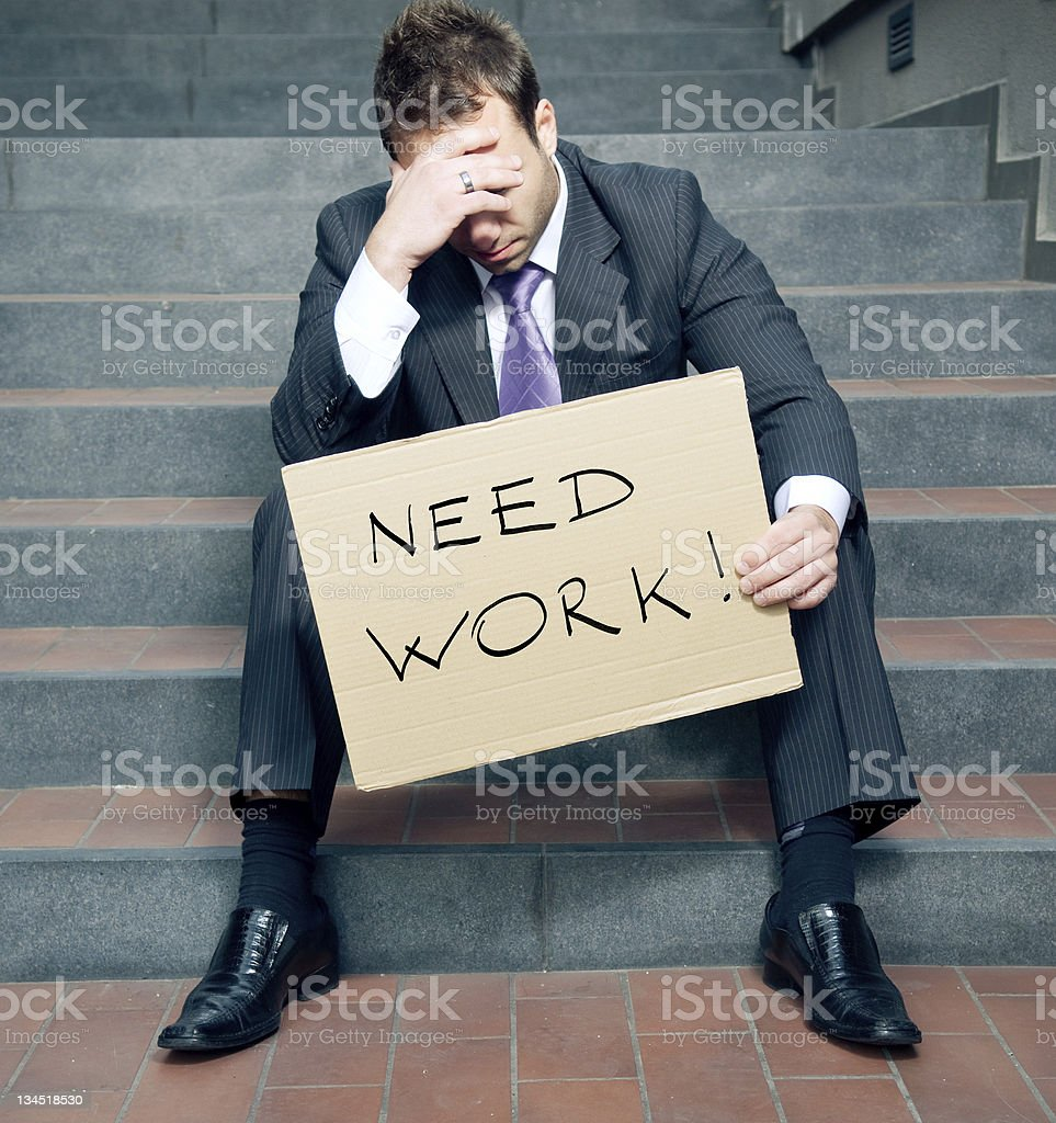Need work! stock photo