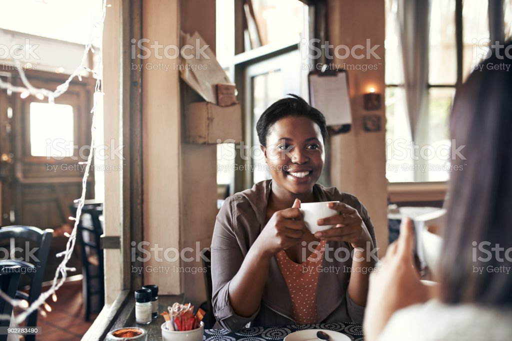 I needed this coffee date stock photo