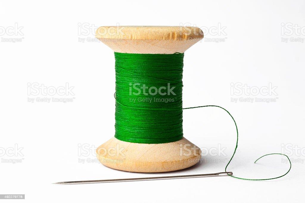 Needle e a linha verde - foto de acervo