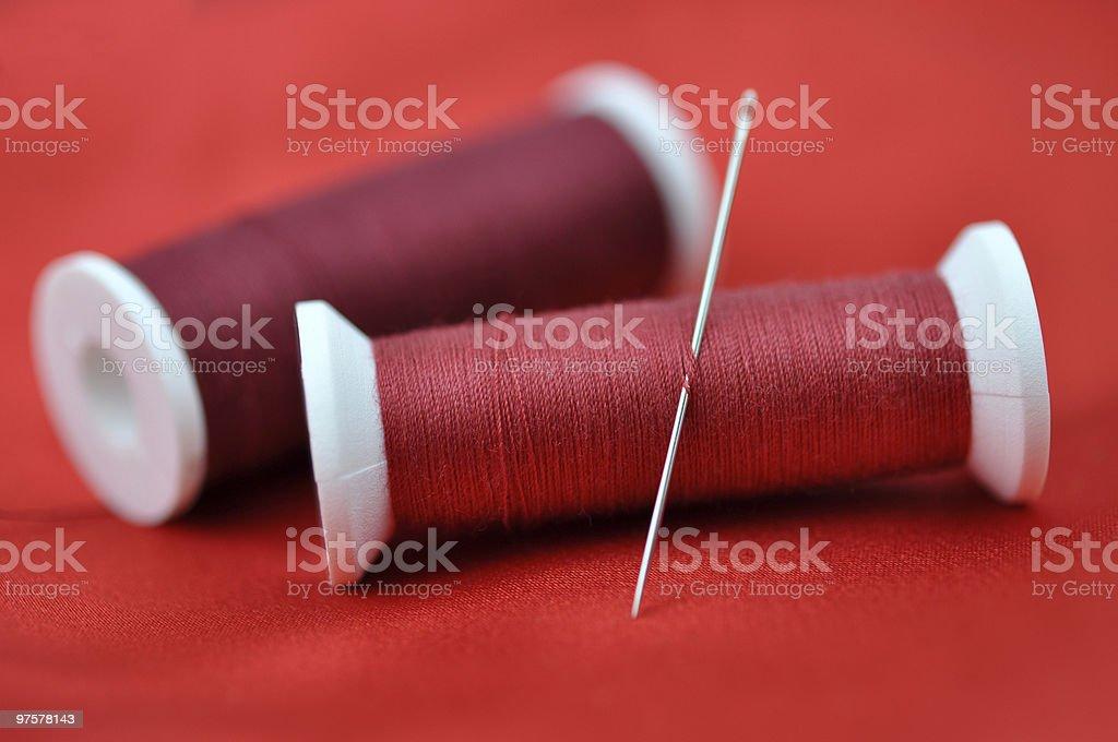 Needle and Spools royalty-free stock photo