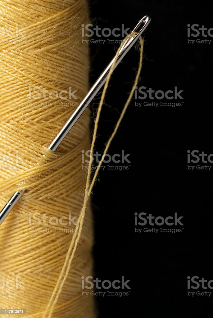 needle and thread royalty-free stock photo