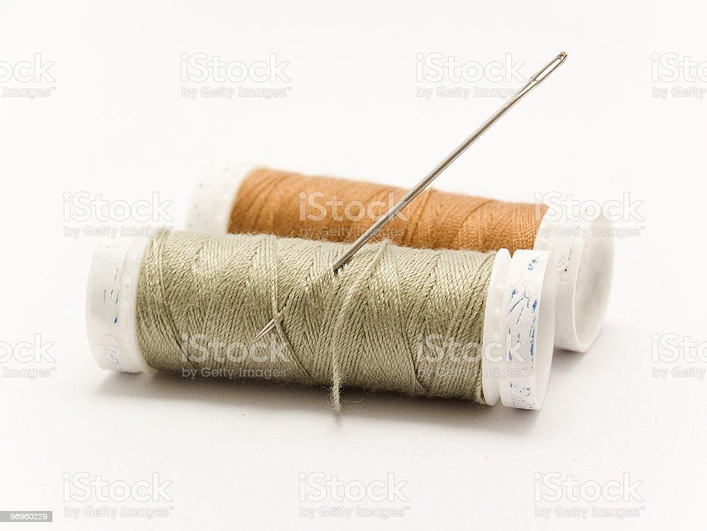 needle and thread stock photo