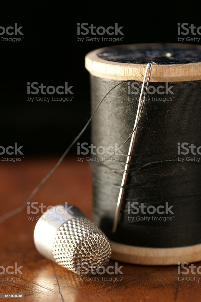 Needle and Thread Sewing Kit royalty-free stock photo