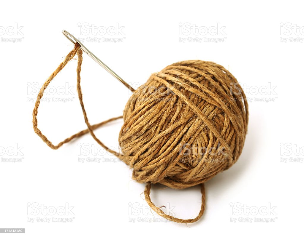 Needle And Twine royalty-free stock photo