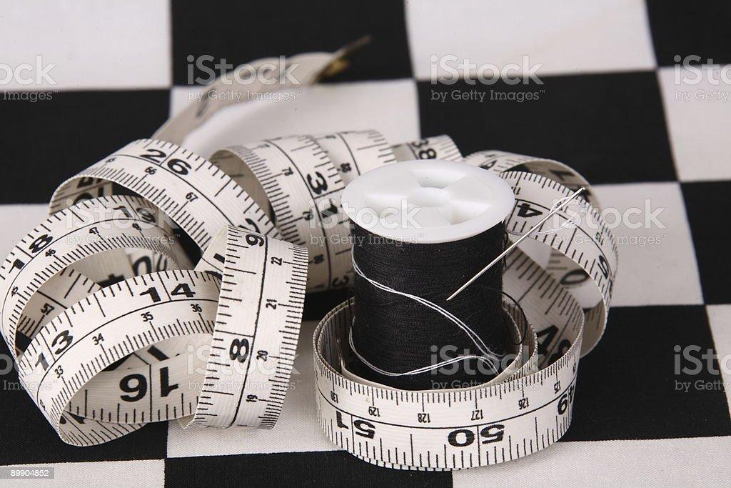 Aguja cinta de medir foto de stock libre de derechos