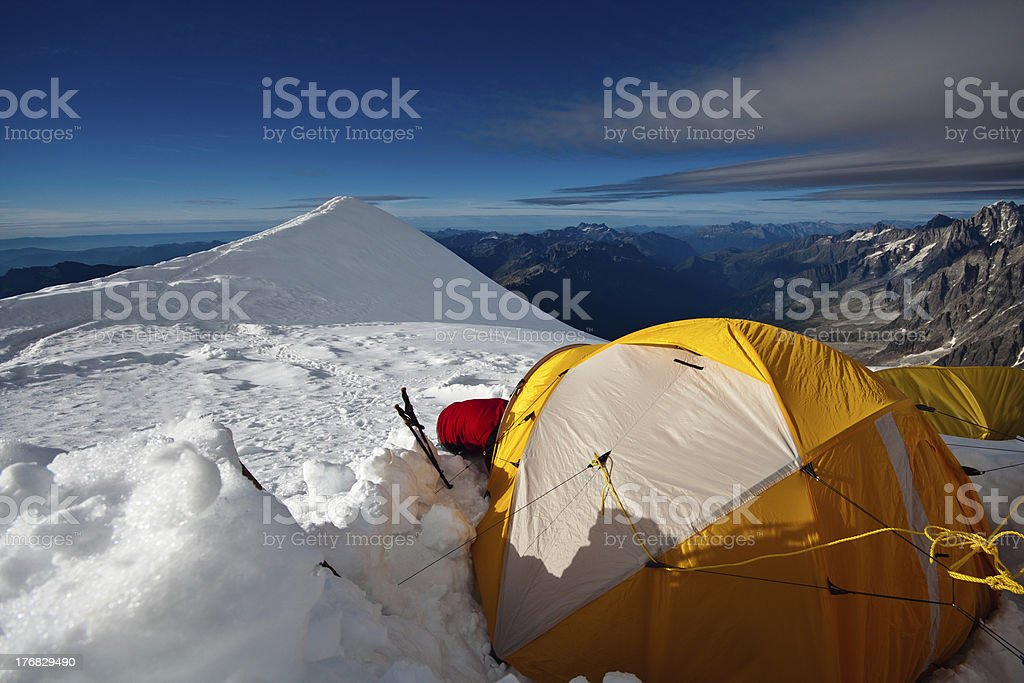 Aiguille du Goûter. royalty-free stock photo