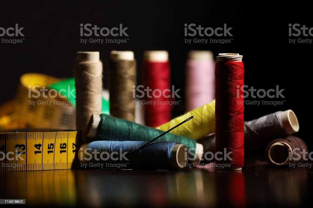 Needle, Thread and Tape royalty-free stock photo