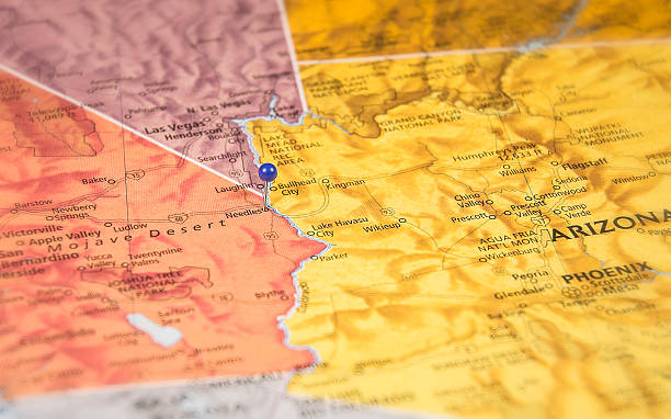 Needles California Travel Road Map Macro Stock Photo More Pictures