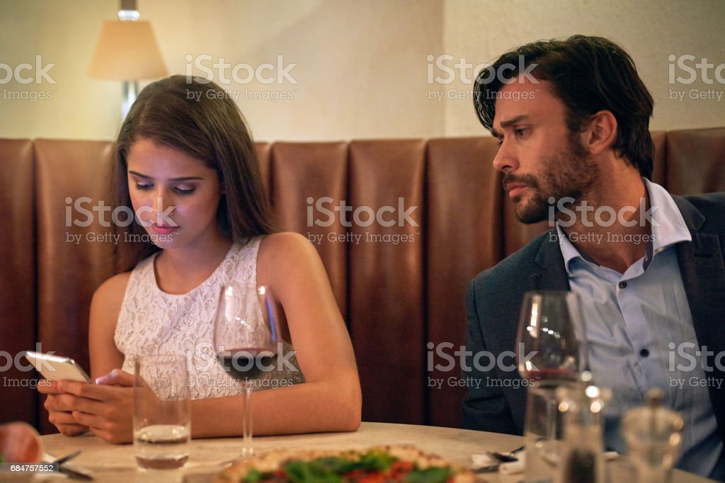Needless to say, she didn't get a second date stock photo