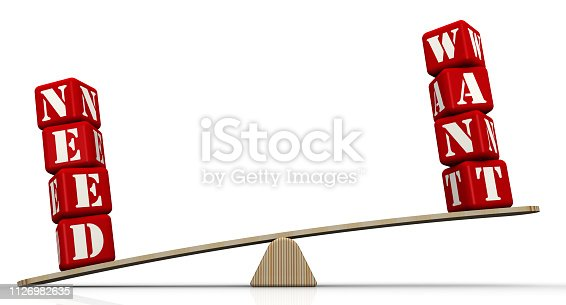 istock Needs outweighs wants 1126982635