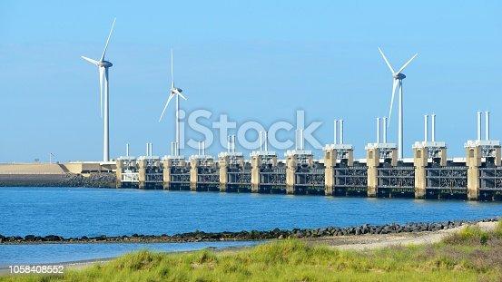 Neeltje Jans dam in Zeeland, Netherlands